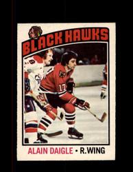 1976 ALAIN DAIGLE OPC #156 O-PEE-CHEE BLACK HAWKS *4103