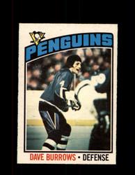 1976 DAVE BURROWS OPC #83 O-PEE-CHEE PENGUINS *G4163