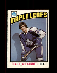 1976 CLAIRE ALEXANDER OPC #321 O-PEE-CHEE MAPLE LEAFS *G4209