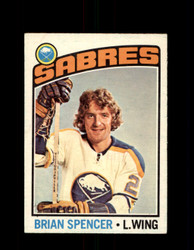 1976 BRIAN SPENCER OPC #191 O-PEE-CHEE SABRES *G2991