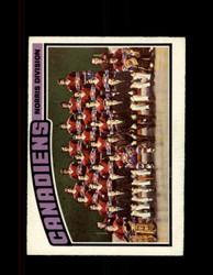 1976 CANADIENS OPC #141 O-PEE-CHEE TEAM CARD *7949