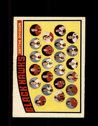 1976 CHICAGO BLACK HAWKS OPC #136 O-PEE-CHEE TEAM CARD *G5909