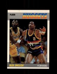 1987 ALEX ENGLISH FLEER #34 NUGGETS *5214