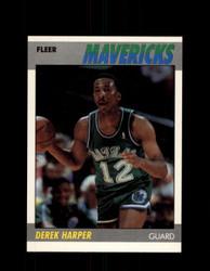 1987 DEREK HARPER FLEER #48 MAVERICKS *8484