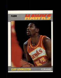 1987 CLIFF LEVINGSTON FLEER #63 HAWKS *7100