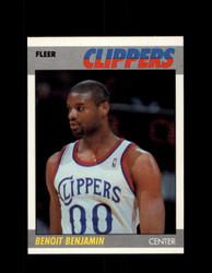 1987 BENOIT BENJAMIN FLEER #10 CLIPPERS *R2432