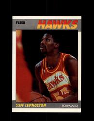 1987 CLIFF LEVINGSTON FLEER #63 HAWKS *5882