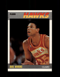 1987 DOC RIVERS FLEER #92 HAWKS *9654
