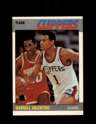 1987 DARNELL VALENTINE FLEER #115 CLIPPERS *7930