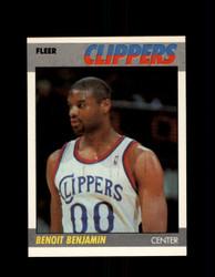 1987 BENOIT BENJAMIN FLEER #10 CLIPPERS *G4231