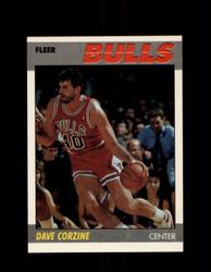 1987 DAVE CORZINE FLEER #22 BULLS *G4235