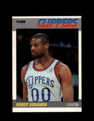 1987 BENOIT BENJAMIN FLEER #10 CLIPPERS *G4276