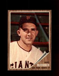 1962 MIKE MCCORMICK TOPPS #107 GIANTS *R3587