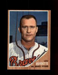 1962 LOU BURDETTE TOPPS #380 BRAVES *G4007