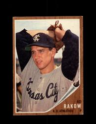 1962 ED RAKOW TOPPS #342 ATHLETICS *G4040