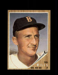 1962 TED WILLS TOPPS #444 RED SOX *R5623