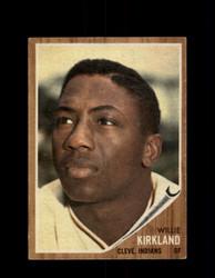 1962 WILLIE KIRKLAND TOPPS #447 INDIANS *G2997