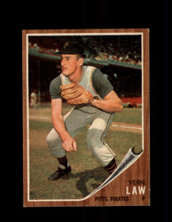 1962 VERN LAW TOPPS #295 PIRATES *9958