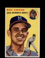 1954 RAY CRONE TOPPS #206 BRAVES *G4411