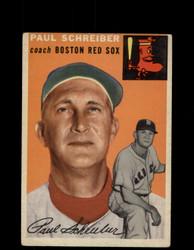 1954 PAUL SCHREIBER TOPPS #217 RED SOX *G4415