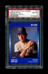 1990 NOLAN RYAN STAR (TEAMS) #11 PERSONAL DATA PSA 10