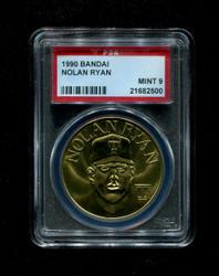 1990 NOLAN RYAN BANDAI TEXAS RANGERS COIN PAS 9