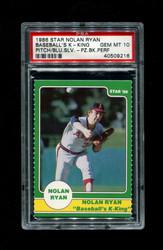 1986 NOLAN RYAN STAR BASEBALL'S K-KING ANGELS PSA 10