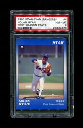 1990 NOLAN RYAN STAR (RANGERS) #4 POST SEASON STATS PSA 8