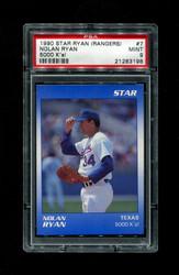 1990 NOLAN RYAN STAR (RANGERS) #7 5000 K'S! PSA 9
