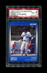 1990 NOLAN RYAN STAR (RANGERS) #9 CAREER HIGHLIGHTS PSA 8