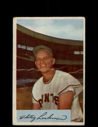 "1954 CARROLL ""WHITEY"" LOCKMAN BOWMAN #153 GIANTS *G2955"