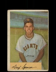 1954 DARYL SPENCER BOWMAN #185 GIANTS *G2965