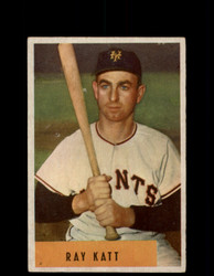 1954 RAY KATT BOWMAN #121 GIANTS *G2974