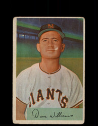 1954 DAVEY WILLIAMS BOWMAN #9 GIANTS *G2982
