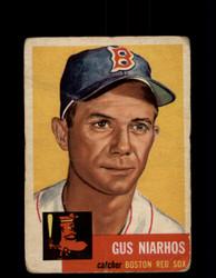 1953 GUS NIARHOS TOPPS #63 RED SOX *G2984