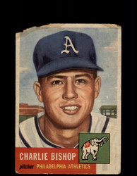1953 CHARLIE BISHOP TOPPS #186 ATHLETICS *G4408