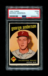 1959 GEORGE ANDERSON TOPPS #338 ROOKIE PHILLIES PSA 5