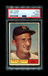 1961 TED WILLS TOPPS #548 RED SOX PSA 6 (mc)