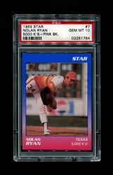 1989 NOLAN RYAN STAR #7 5000 K'S PINK BACK PSA 10