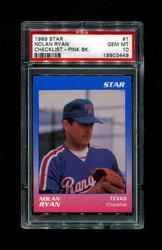 1989 NOLAN RYAN STAR #1 CHECKLIST PINK BACK PSA 10