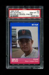 1989 NOLAN RYAN STAR #3 MAJOR LEAGUE STATS PINK BACK PSA 10