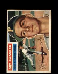 1956 ART SWANSON TOPPS #204 PIRATES *G4548