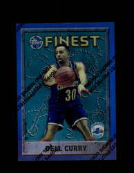 1995 DELL CURRY FINEST #51 REFRACTOR HORNETS *1341