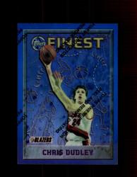 1995 CHRIS DUDLEY FINEST #74 REFRACTOR TRAIL BLAZERS *5850