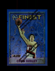 1995 CHRIS DUDLEY FINEST #74 REFRACTOR TRAIL BLAZERS *1336