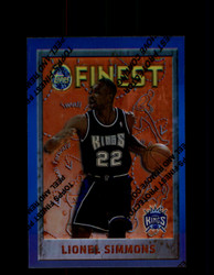 1995 LIONEL SIMMONS FINEST #203 REFRACTOR KINGS *4495