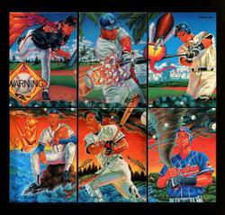 1995 FLEER BASEBALL PRO VISION COMPLETE 6 CARD SET