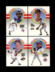 1990 FLEER BASEBALL ALL STAR TEAM COMPLETE 12 CARD SET