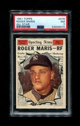 1961 ROGER MARIS TOPPS #576 ALL STAR PSA 7