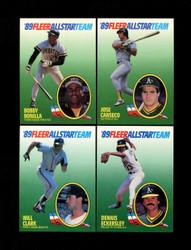 1989 FLEER ALL STAR TEAM COMPLETE 12 CARD SET